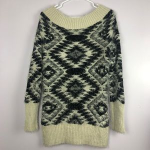 Kismet Sweaters - Fuzzy Aztec Sweater